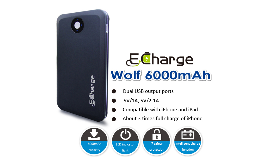 Power Bank E Charge wolf 6000