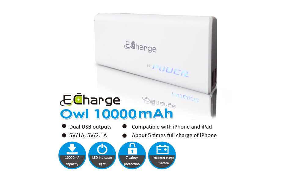 Power Bank E Charge owl 10000
